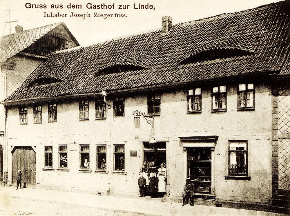 pension zur linde dingelstädt eichsfeld historisch